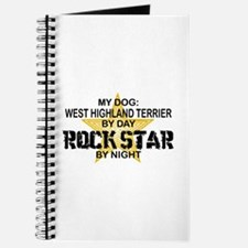 West Highland Terrier Rock Star Journal