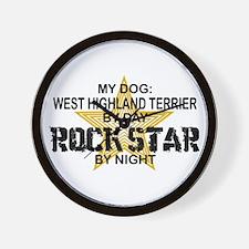 West Highland Terrier Rock Star Wall Clock