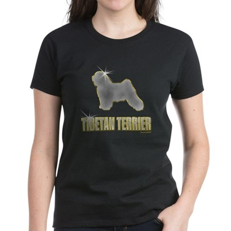 Bling Tibetan Terrier Women's Dark T-Shirt