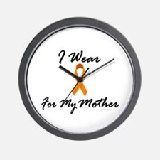 I Wear Orange For My Mother 1 Wall Clock