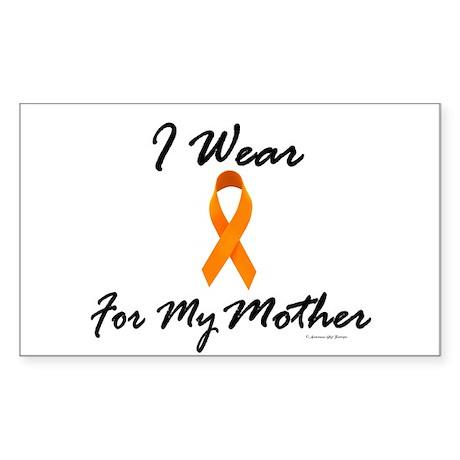 I Wear Orange For My Mother 1 Sticker (Rectangular