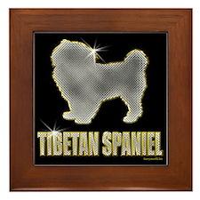 Bling Tibetan Spaniel Framed Tile