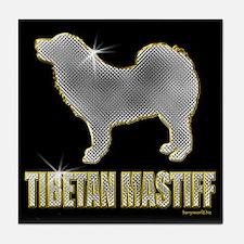 Bling Tibetan Mastiff Tile Coaster