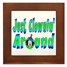 Clownin Around Framed Tile