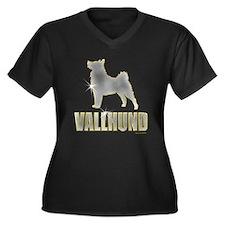 Bling Vallhund Women's Plus Size V-Neck Dark T-Shi