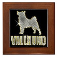 Bling Vallhund Framed Tile