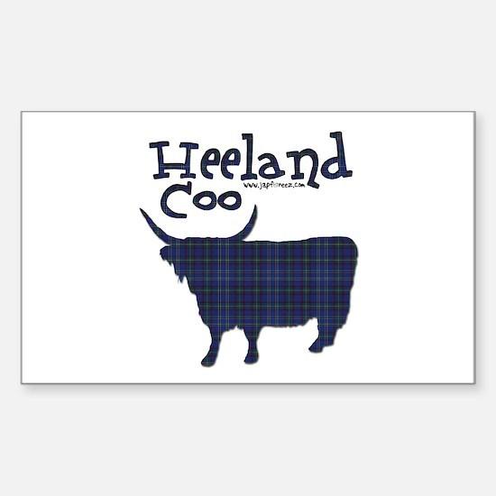 Heeland Coo Rectangle Decal