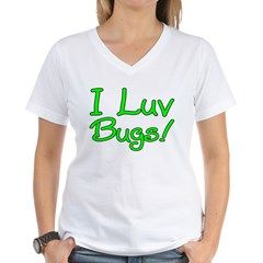 I Luv Bugs! Women's V-Neck T-Shirt