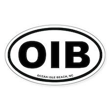 Ocean Isle Beach, NC Euro Oval Decal