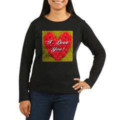 I Love You Camellia Heart T-Shirt