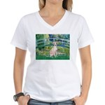 Bridge / Ital Greyhound Women's V-Neck T-Shirt