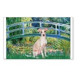 Bridge / Ital Greyhound Sticker (Rectangle)