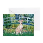 Bridge / Ital Greyhound Greeting Cards (Pk of 20)
