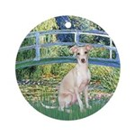 Bridge / Ital Greyhound Ornament (Round)