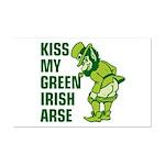 Kiss My Green Irish Arse Mini Poster Print