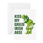 Kiss My Green Irish Arse Greeting Cards (Pk of 10)
