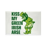 Kiss My Green Irish Arse Rectangle Magnet