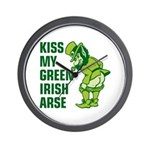 Kiss My Green Irish Arse Wall Clock