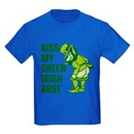 Kiss My Green Irish Arse Kids Dark T-Shirt