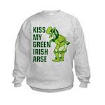 Kiss My Green Irish Arse Kids Sweatshirt
