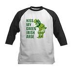 Kiss My Green Irish Arse Kids Baseball Jersey