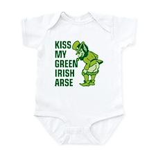 Kiss My Green Irish Arse Infant Bodysuit