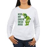 Kiss My Green Irish Arse Women's Long Sleeve T-Shi