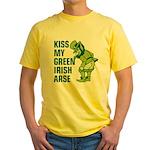 Kiss My Green Irish Arse Yellow T-Shirt