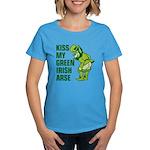 Kiss My Green Irish Arse Women's Dark T-Shirt