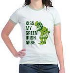 Kiss My Green Irish Arse Jr. Ringer T-Shirt
