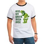 Kiss My Green Irish Arse Ringer T