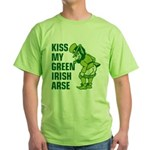 Kiss My Green Irish Arse Green T-Shirt