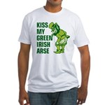 Kiss My Green Irish Arse Fitted T-Shirt
