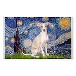 Starry Night / Ital Greyhound Sticker (Rectangle)