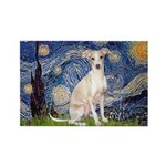 Starry Night / Ital Greyhound Rectangle Magnet