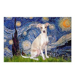 Starry Night / Ital Greyhound Postcards (Package o