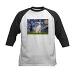 Starry Night / Ital Greyhound Kids Baseball Jersey