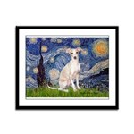 Starry Night / Ital Greyhound Framed Panel Print