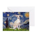 Starry Night / Ital Greyhound Greeting Card