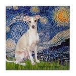 Starry Night / Ital Greyhound Tile Coaster