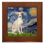 Starry Night / Ital Greyhound Framed Tile