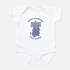 Happy Elephant Yoga Logo Body Suit