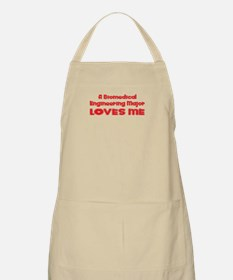 A Biomedical Engineering Major Loves Me BBQ Apron
