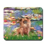 Lilies / Chihuahua (lh) Mousepad