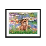 Lilies / Chihuahua (lh) Framed Panel Print