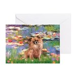 Lilies / Chihuahua (lh) Greeting Cards (Pk of 10)