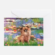 Lilies / Chihuahua (lh) Greeting Card