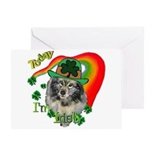 Today I'm Irish Keeshond Greeting Card