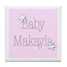 Cute Makayla Tile Coaster