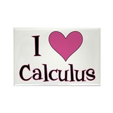 Pink I Heart Calculus Rectangle Magnet